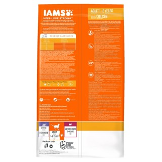 Iams Adult Proactive Health Chicken 15kg Complete Dry Cat Food