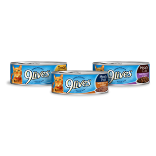 9 Lives 5.5oz Wet Canned Cat Food Assorted
