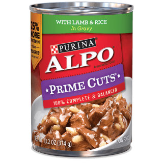ALPO Prime Cuts with Lamb & Rice 374g Dog Wet Food