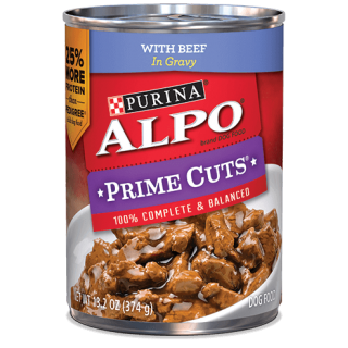 ALPO Prime Cuts Beef Canned 374g Dog Wet Food
