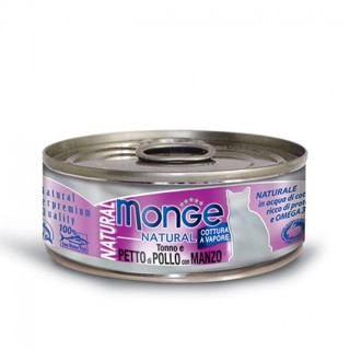 Monge Natural Tuna & Chicken with Beef 80g Cat Wet Food
