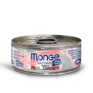 Monge Natural Tuna & Chicken with Shrimps 80g Cat Wet Food