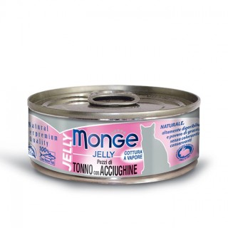 Monge Jelly Yellowfin Tuna with Anchovies 80g Cat Wet Food