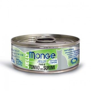 Monge Jelly Yellowfin Tuna with Surimi 80g Cat Wet Food