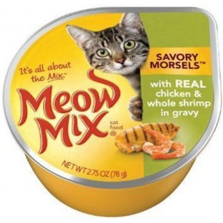 Meow Mix Market Select Real Chicken & Whole Shrimp 78g Wet Cat Food
