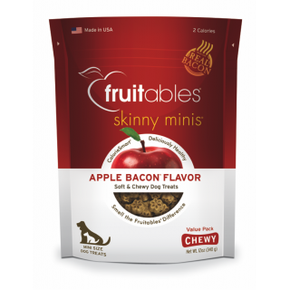 Fruitables Skinny Minis Apple & Bacon Chewy Dog Treats