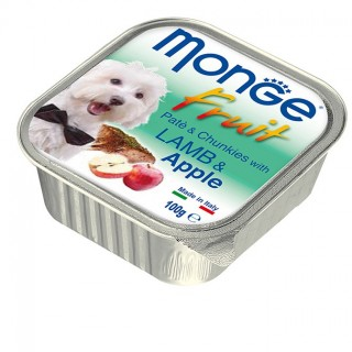 Monge Fruit Lamb & Apple 100g Dog Wet Food
