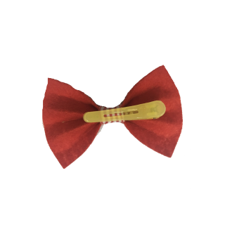 Babymoon Bow Clip Red with Stripes Pet Accessory