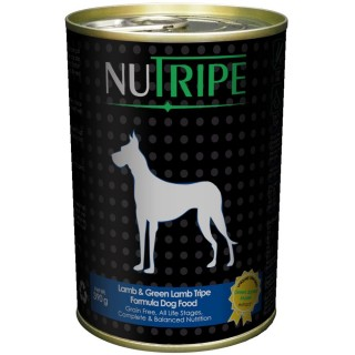 NuTripe Lamb & Green Lamb Tripe 390g Grainfree Dog Wet Food