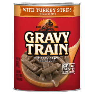 Gravy Train with Turkey Strips in Gravy 374g Dog Wet Food
