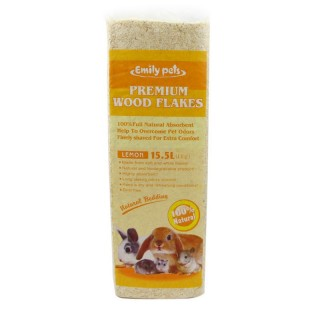 Emily Pets Premium Wood Flakes Small Pets 1kg Natural Bedding