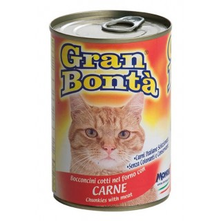 Gran Bonta Cat Chunkies w/ Meat 400g Cat Wet Food