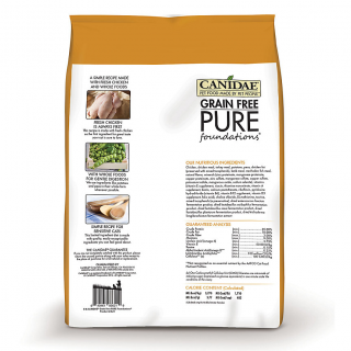 Canidae Kitten Grain-Free Pure Foundations with Fresh Chicken 2.2kg (5lbs) Cat Dry Food