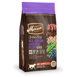 Merrick Grain Free Real Venison + Chickpeas Recipe 9.9kg Dog Dry Food