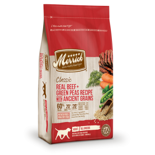 Merrick Classic Real Beef + Green Peas Recipe with Ancient Grains 11.25kg Dog Dry Food