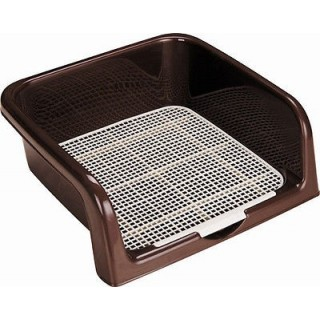 Puppy & Dog 3-Sides Training Tray - Brown