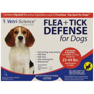 Vetri Science Flea + Tick Defense Top Spot for Dogs & Puppies (23 - 44 lbs)