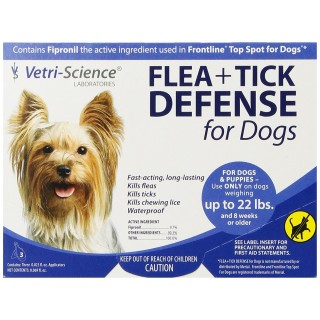 Vetri Science Flea + Tick Defense Top Spot for Dogs & Puppies (up to 22 lbs)