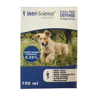 Vetri Science Flea + Tick Defense Spray for Dogs