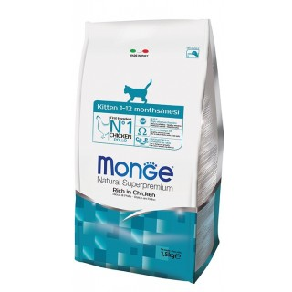 Monge Natural Superpremium Rich in Chicken 1.5kg Kitten Dry Food