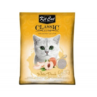 Kit Cat Classic Clump White Peach Scent 7kg Premium Cat Litter