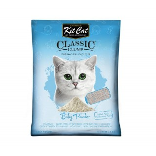 Kit Cat Classic Clump Baby Powder 7kg Premium Cat Litter