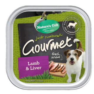 Nature's Gift Gourmet Lamb & Liver 100g Dog Wet Food