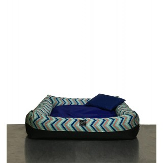 Bow House Snorebox Pastel Chevron Extra Small Pet Bed