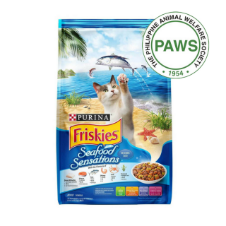 DONATE TO MARAWI CATS - 25 MEALS OF PURINA FRISKIES SEAFOOD SENSATIONS CAT DRY FOOD
