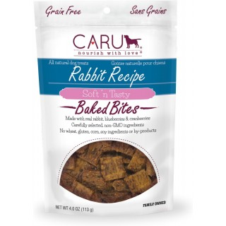 Caru Soft 'n Tasty Baked Bites Rabbit Recipe 113g Grain-Free Dog Treats