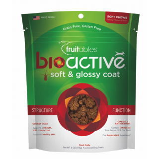 Fruitables BioActive Soft & Glossy Coat 170g Functional Dog Treats