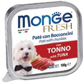 Monge Fresh Pate & Chunkies with Tuna 100g Dog Wet Food