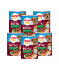 PROMO 5+1 BUNDLE PACK Kibbles 'n Bits Bistro Hearty Cuts with Real Beef, Chicken & Vegetables in Gravy 374g Dog Wet Food