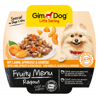 GimDog Fruity Menu Ragout with Lamb, Apricot & Vegetables 100g Dog Wet Food