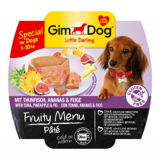GimDog Fruity Menu Pate with Tuna, Pineapple & Fig 100g Dog Wet Food