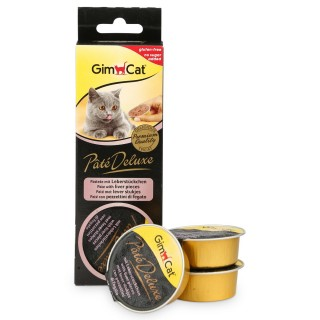 GimCat Pâté Deluxe with Liver Pieces 3 x 21g Cat Treats