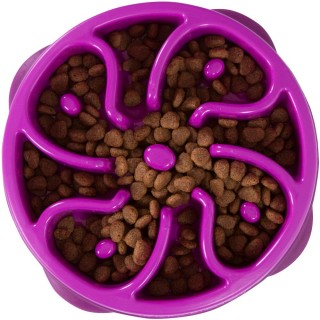 Kyjen Dog Games Slo-Bowl Flower Purple