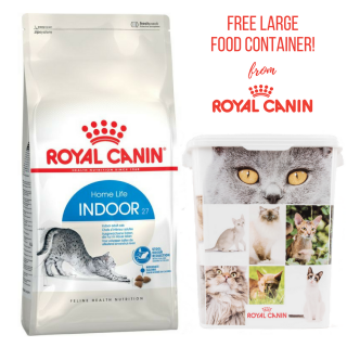 PROMO with FREE FOOD CONTAINER Royal Canin Feline Indoor 27 10kg Cat Dry Food
