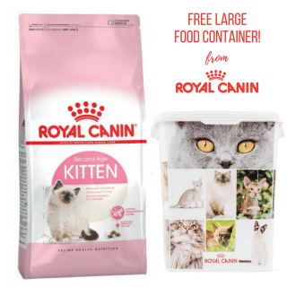 PROMO with FREE LARGE FOOD CONTAINER Royal Canin Kitten 2kg Cat Dry Food