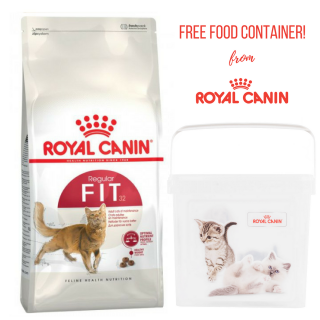 PROMO with FREE FOOD CONTAINER Royal Canin Feline Hair & Skin 2kg Cat Dry Food