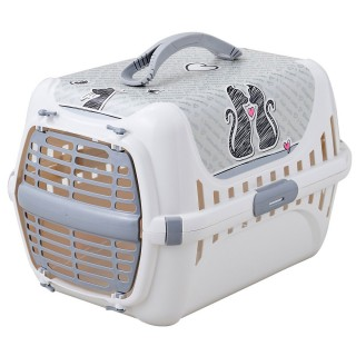 Moderna Trendy Runner Cats in Love Cat Crate Carrier