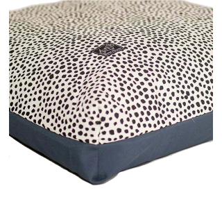 Bow House Muttress Black & White Spots Pet Bed