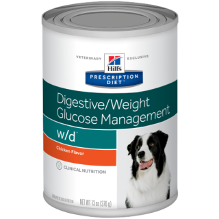Hill's Prescription Diet Digestive/Weight/Glucose Management w/d with Chicken 370g Dog Wet Food
