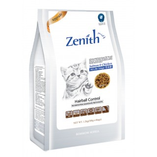 Zenith Hairball Control Salmon & Chicken 1.2kg Soft Kibble Cat Dry Food