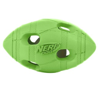 Nerf Dog LED Bash Football GREEN SMALL 4 inches Dog Toy