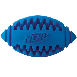 Nerf Dog Teether Football BLUE LARGE 5 inches Dog Toy