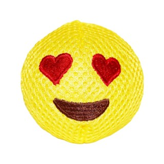 Michiko Emoji Dog Toy (squeaky) - LOVE