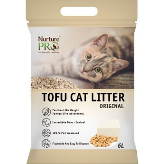 Nurture Pro Original 6L Tofu Flushable Clumping Cat Litter
