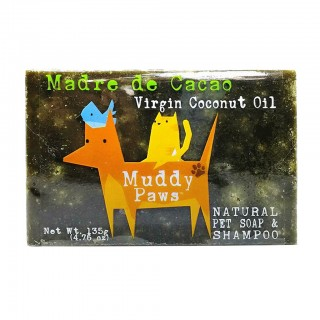 Muddy Paws Madre de Cacao with Virgin Coconut Oil 135g Natural Pet Soap & Shampoo