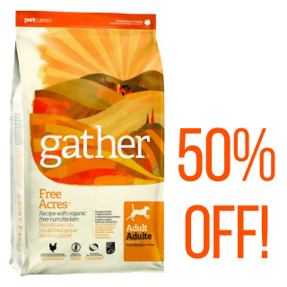 PROMO! Gather Free Acres with Organic Chicken 2.72kg (6lb) Adult Dog Dry Food